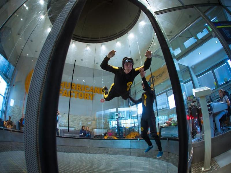 Větrný tunel - Simulátor volného pádu